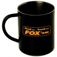 Cana Fox Stainless Black Mug XL, 400ml