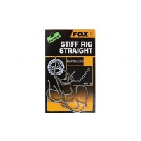 Carlige Fox Edges Armapoint Stiff Rig Straight Barbless, 10buc/plic