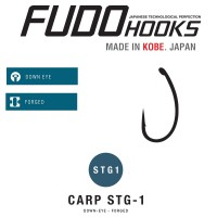 Carlige Fudo Carp STG1, Black Nickel