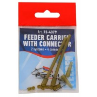 Conector Antitangle + Vartej + Agrafa + Quick Beads Falcon Feeder Carrier with Connector, 2buc+4/plic