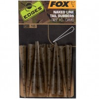 Conuri Antitangle FOX Naked Line Tail Rubbers (Nr.10) Camo, 10buc/plic