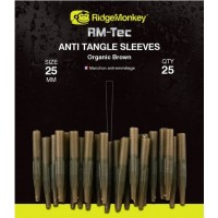 Conuri Antitangle RidgeMonkey RM-Tec Anti Tangle Sleeves, Organic Brown, 25buc/plic
