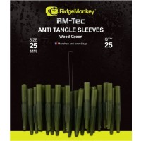 Conuri Antitangle RidgeMonkey RM-Tec Anti Tangle Sleeves, Weed Green, 25buc/plic
