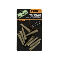Conuri Fox Edges Slik Lead Clip Tail Rubber Nr.10, 10bucplic