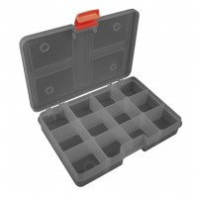 Cutie pentru Accesorii Fox Rage Stack'n Store Small Shallow, 12 Compartimente, 22x15x4cm