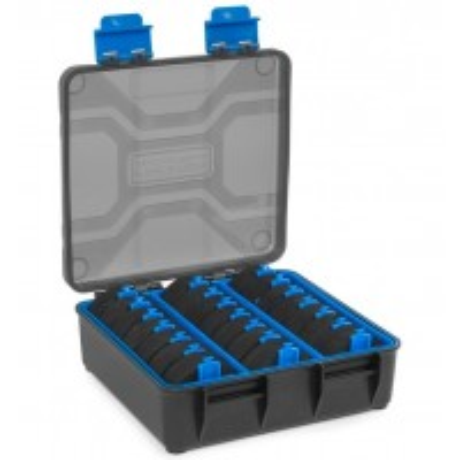 Cutie Rigida pentru Riguri Preston Revalution Storage System + 21 EVA Disc Spool, 17x16x6cm