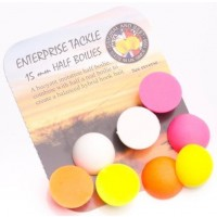 Enterprise Tackle Half-Boilies, Fluoro & White, 15mm, 8buc/plic