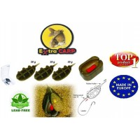 Momitor Extra Carp Method Feeder In Line Set 3+1 (20,25,30g) + Matrita