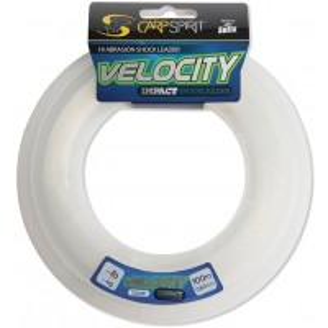 Fir Inaintas Monofilament Carp Spirit Velocity Impact Shock Leader, Clear, 100m