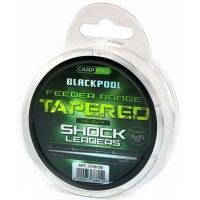 Fir Inaintas Conic Carp Pro Blackpool Tapered Heavy Shock Leaders, Clear, 5x15mrola