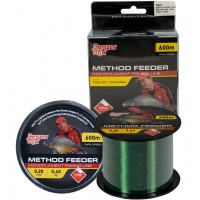 Fir Monofilament Benzar Method Feeder Mono Dark Green, Verde Inchis, 600m