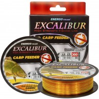 Fir Monofilament EnergoTeam Excalibur Carp Feeder, Fluo Orange/Galben Camou, 300m