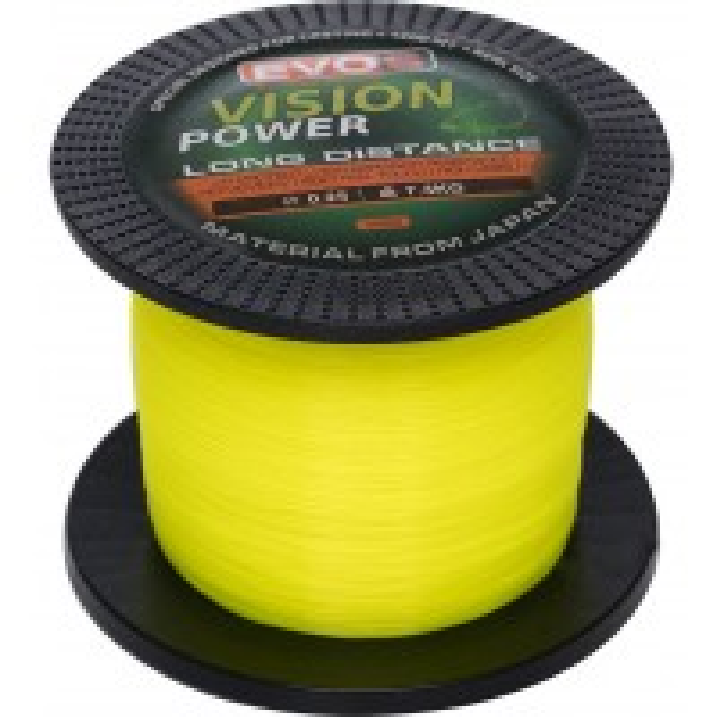 Fir Monofilament Evos Vision Power, Galben Fluo, 1200m