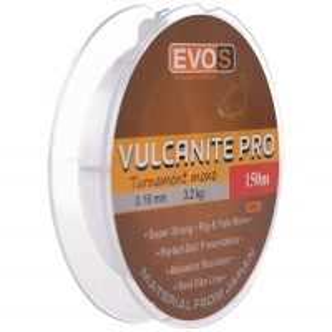 Fir Monofilament Evos Vulcanite Pro, Transparent, 150m