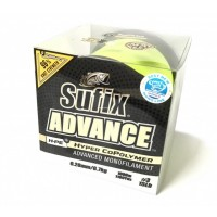 Fir Monofilament Sufix Advance HMPE Hyper CoPolymer, Hi Vis Yellow, 720m - 1000m
