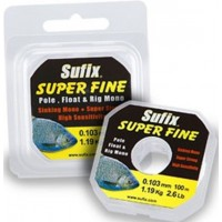 Fir Monofilament Sufix Super Fine, Crystal Clear, 50m