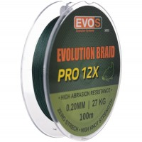 Fir Textil Evos Evolution Braid Pro 12X, Verde, 100m