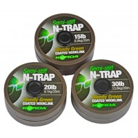 Fir Textil Korda N-Trap Semi Stiff, Weedy Green, 20m