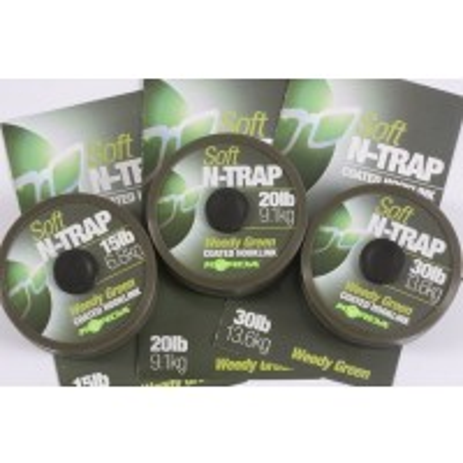 Fir Textil Korda N-Trap Soft Coated, Weedy Green, 20m