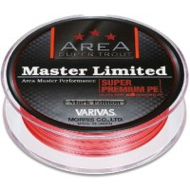 Fir Textil Varivas Super Trout Area Master Limited Super Premium PE, Sight Orange, 0.02mm/6.5lbs, 75m