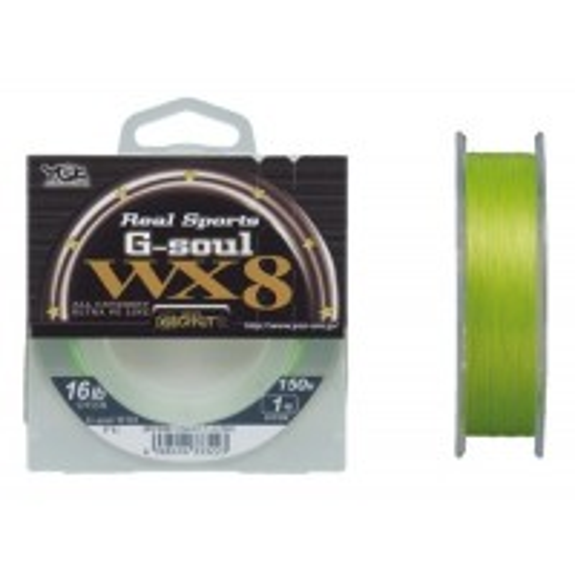 Fir Textil YGK Real Sport G-Soul WX8, Green Fluorescent, 150m