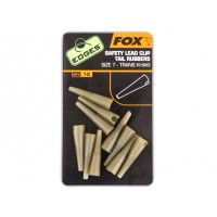 Conuri FOX Edges Safety Lead Clip Tail Rubbers Nr.7, 10buc/plic