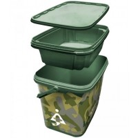 Galeata Bait-Tech Square Camo Bucket, 8L