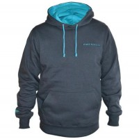 Hanorac Drennan Heavyweight Hoodie, Grey/Aqua