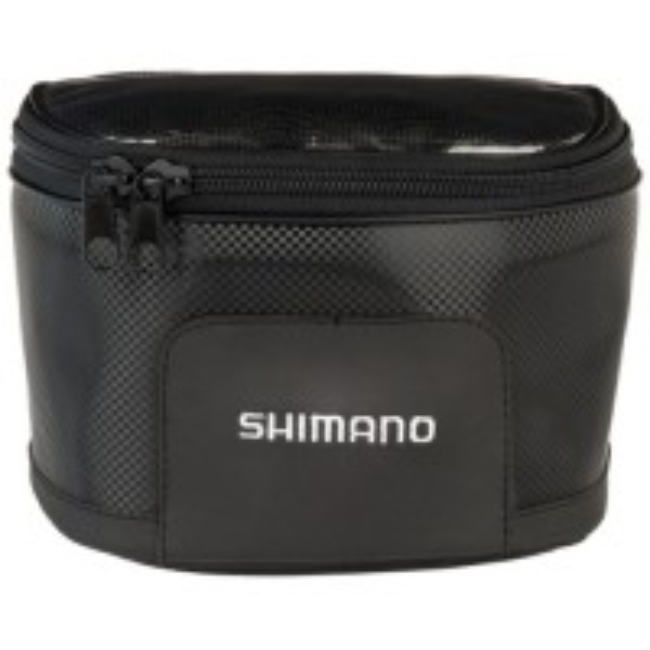 Husa pentru Mulineta Shimano Reel Case M, Black Carbon, 16x12x8cm