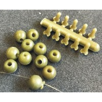 Kit Bilute Antisoc + Pini Blocare Enterprise Tackle Leger Stop Beads, 10buc/plic