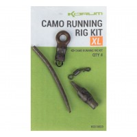 Kit Montura Feeder Korum Camo Running Rig, 4buc/plic
