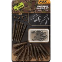 Kit Monturi Fox Edges Power Grip Lead Clip Camo, 5x5buc/set