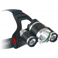 Lanterna Cap ET Outdoor Saturn Led, 2 Acumulatori 18650, 2000 Lumeni