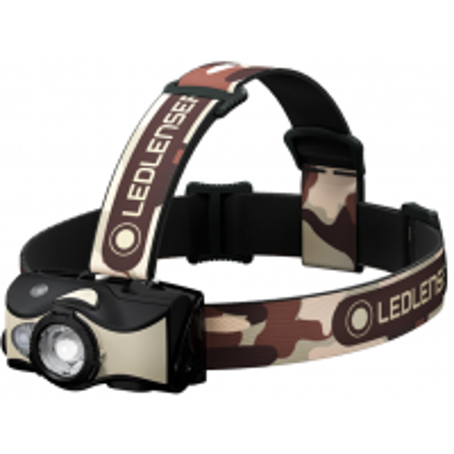 Lanterna de Cap Reincarcabila Led Lenser MH8 Black Sand, 600 Lumeni