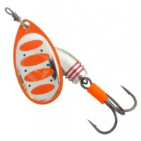 Lingurita Rotativa Savage Gear Rotex Nr.2, Fluo Orange SIlver, 5.5g
