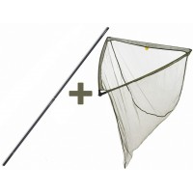 Minciog Mivardi Landing Net Level M Professional, 100x100x95cm, 2 Tronsoane, 1.80m