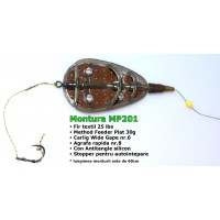 Montura Crap MP Inline cu Method Feeder Plat 30g