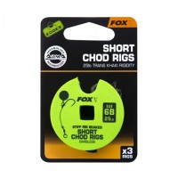 Montura FOX Edges® Stiff Chod Rig Short Barbless, 3buc/disc