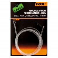 Montura Fox Fluorocarbon Fused Leader Kwik Change, 115cm
