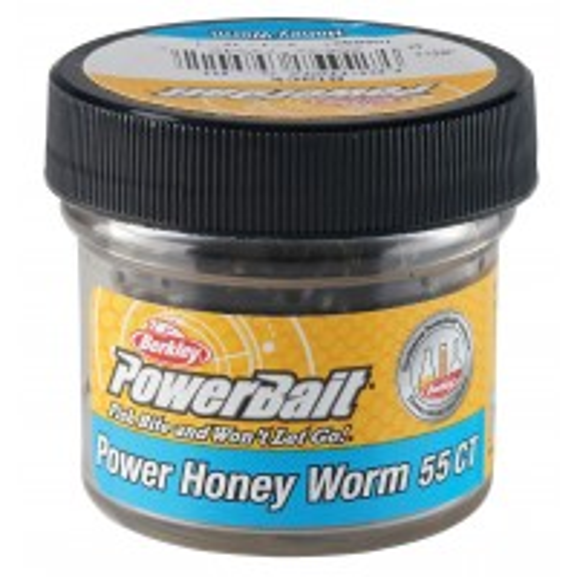 Naluca Berkley PowerBait Power Honey Worm Spring Green, Garlic Flavour, 60g, 25buc/borcan