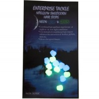 Opritoare Enterprise Tackle NiteGlow Sweetcorn Hair Stops, 12buc/plic