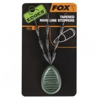 Opritoare Silicon FOX Tapered Main Line Stoppers, 9buc/plic