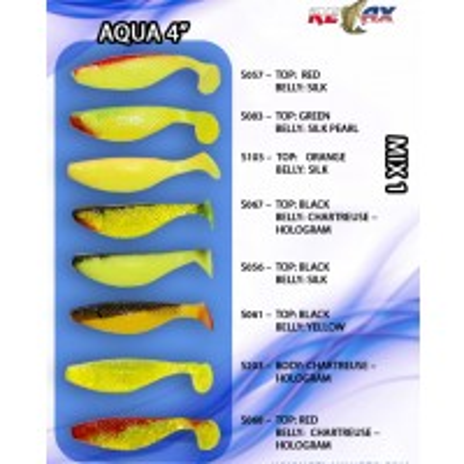 Pachet Shad Relax Aqua Mix, 9cm, 8bucplic