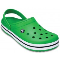 Papuci Crocs Crocband Green/White