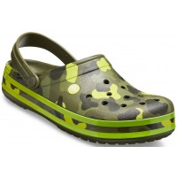 Papuci Crocs Crocband Seasonal Graphic Clog Army GreenCitrus