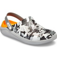 Papuci Crocs LiteRide Relaxed, Camo Light Grey
