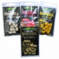 Pelete Flotante Korda Pop-Up Dumbell + Free Hair Stops, 8mm, 10bucplic