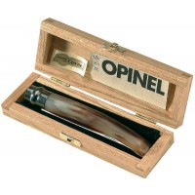 Penar Briceag Nr 10 Inox Opinel Lustruit si Corn Deschis La Culoare