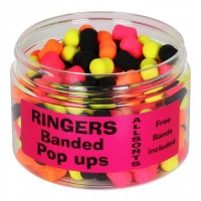 Pop-Ups Ringers Banded Allsorts, 8mm, 60g