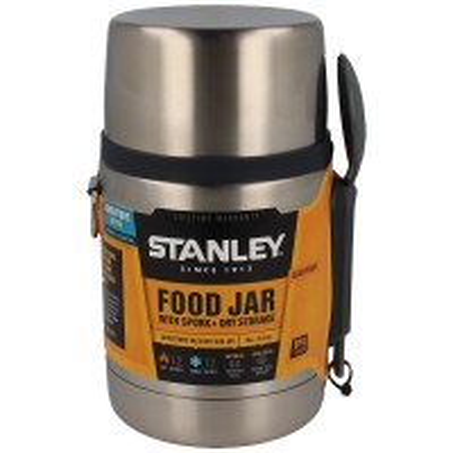 Recipient Termoizolant Stanley Adventure Vaccum Food Jar with Spork, Steel, 0.53 Litri